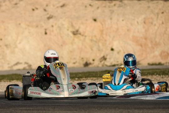 Pernía foi 23.º classificado e Dinis prosseguiu evolução na Rotax Winter Cup Júnior