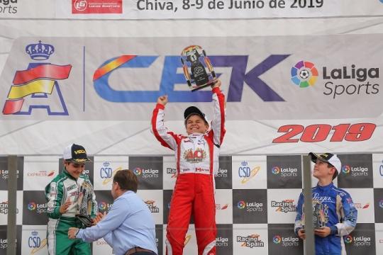 CEK Valência: Adrián Malheiro vence Corrida 1 da categoria Cadete