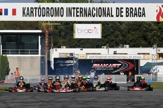 Os vencedores do primeiro dia do Campeonato Nacional que está a decorrer em Braga