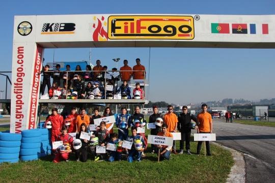 Os vencedores do Troféu dos Campeões Mojo disputado no Kartódromo de Braga