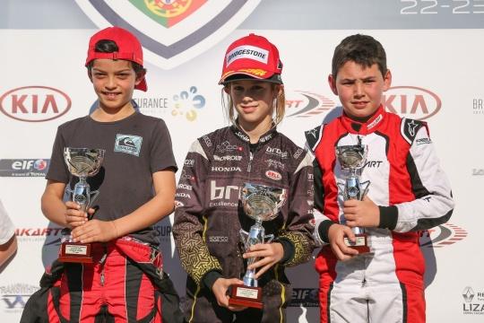 Noah Monteiro vitorioso no Open de Portugal de Karting da categoria Juvenil