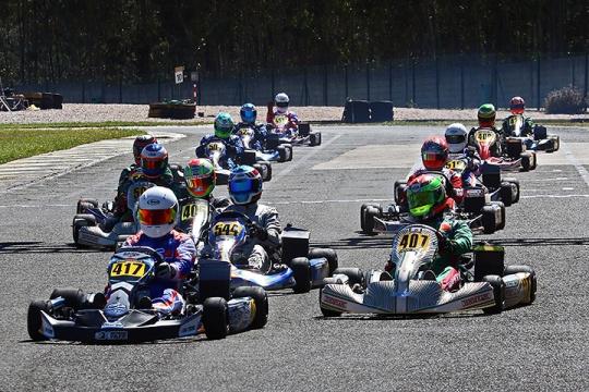 Os vencedores da segunda prova do Rotax Max Challenge Portugal em Fátima