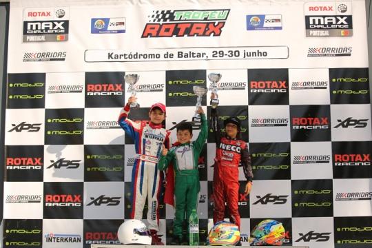 Christian Costoya entra a vencer Troféu Rotax da categoria Micro-Max em Baltar