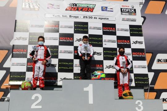 Tomás Gomes soma primeira vitória no Troféu Rotax da categoria Mini-Max