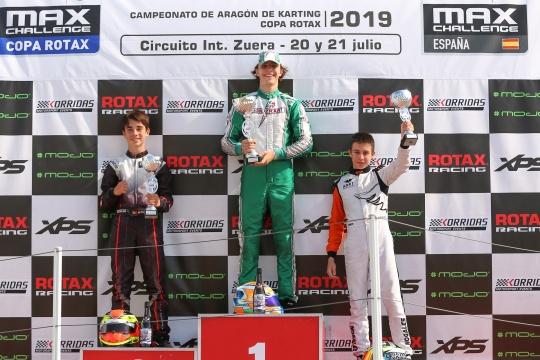 Gabriel Caçoilo venceu hoje a Final 2 da Copa Rotax Sénior Max