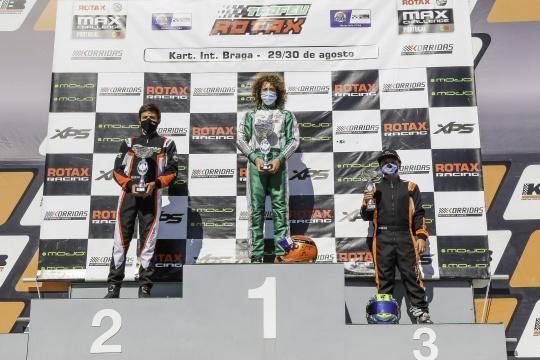 Diogo Martins vitorioso no Troféu Rotax Júnior… Guillermo Pernía mantém liderança