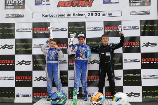 Adrián Malheiro coleciona mais um triunfo no Troféu Rotax Mini-Max em Baltar