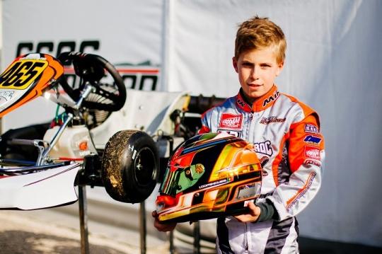 Ivan Domingues prosseguiu evolução na categoria Mini ROK da Winter Cup em Itália