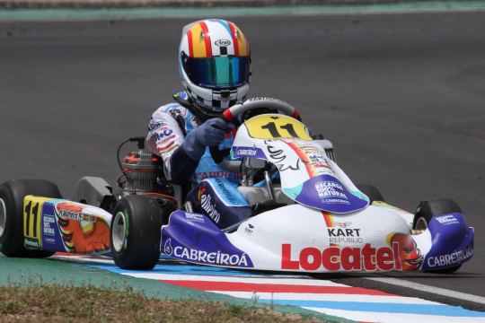 Luso-espanhol Adriàn Malheiro garante pódio no arranque do CEK da categoria Júnior