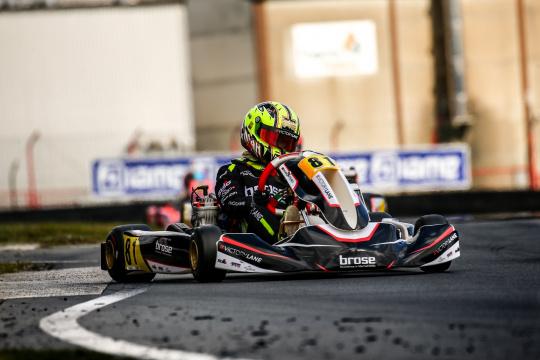 Noah Monteiro no top-20 da categoria X30 Júnior na 1.ª prova da IAME Euro Series