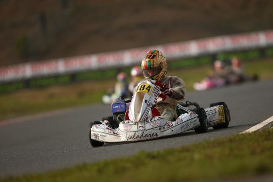 Guilherme de Oliveira garantiu hoje um 10.º lugar na 2.ª manga do Rotax International Trophy