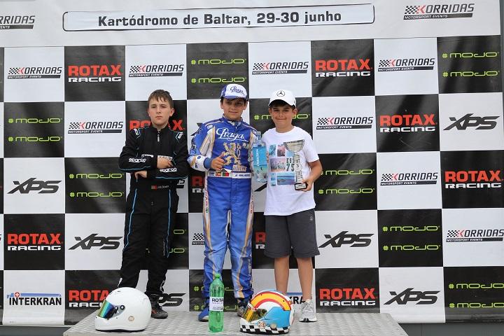 Adrián Malheiro soma mais uma vitória no Troféu Rotax Mini-Max em Baltar