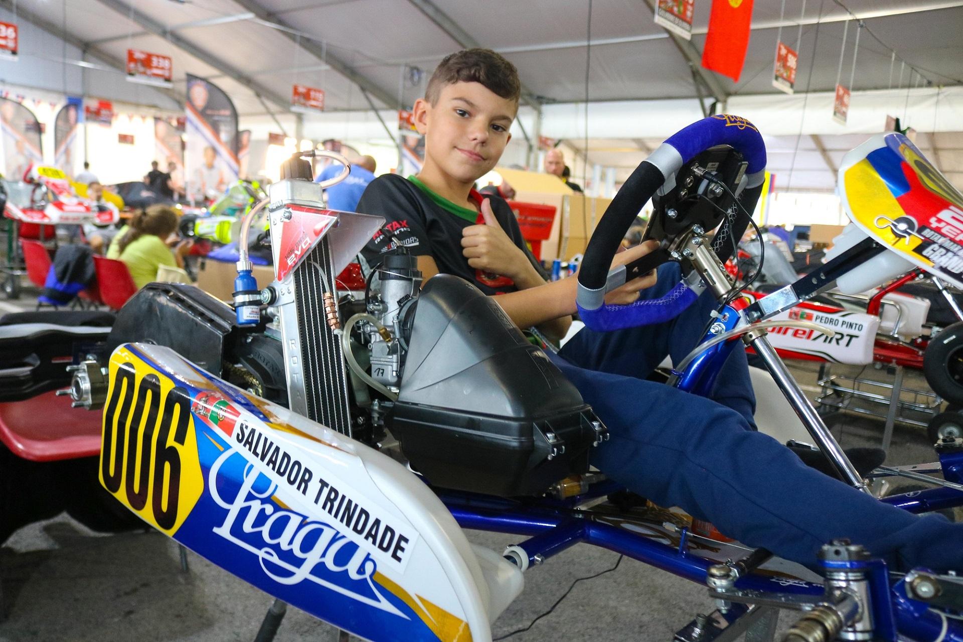 Salvador Trindade é um dos candidatos a vencer o Mundial de Karting Micro-Max