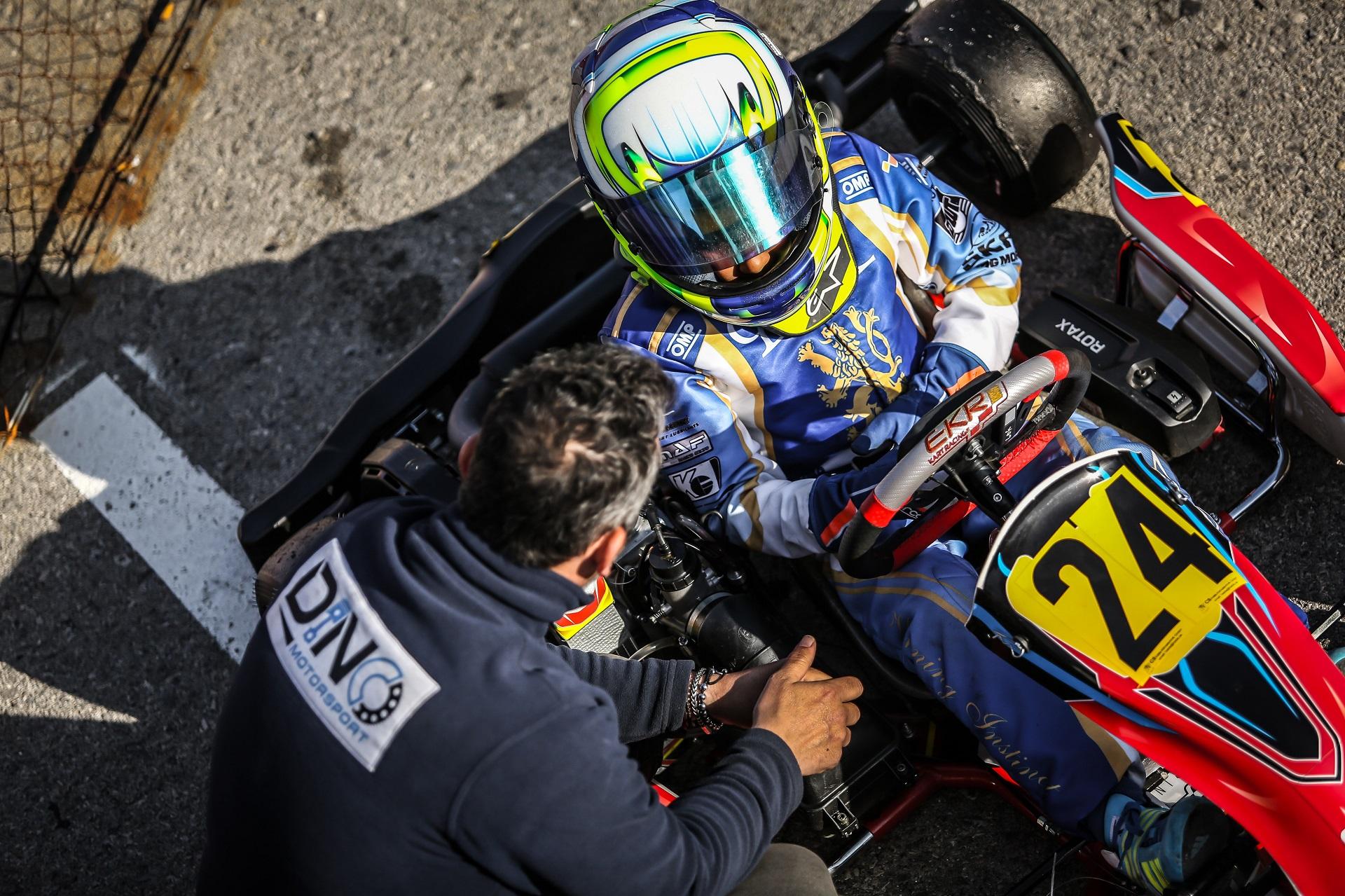 Lorenzo Campos 8.º nos 'cronos' da Rotax Winter Cup da categoria Micro-Max