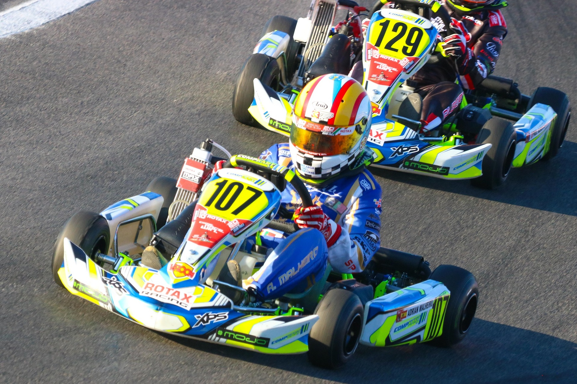 Adrián Malheiro forçado a abandonar na Final do Mundial Rotax Mini-Max