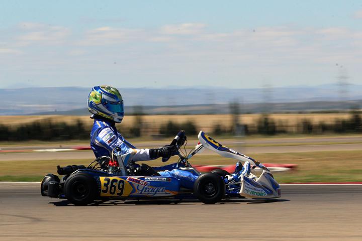 Areia está no 6º lugar e Coutinho no 7º das Series Rotax Espanha Sénior Max