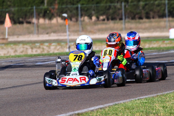 Maria Germano Neto no top-10 das Series Rotax Espanha Micro-Max