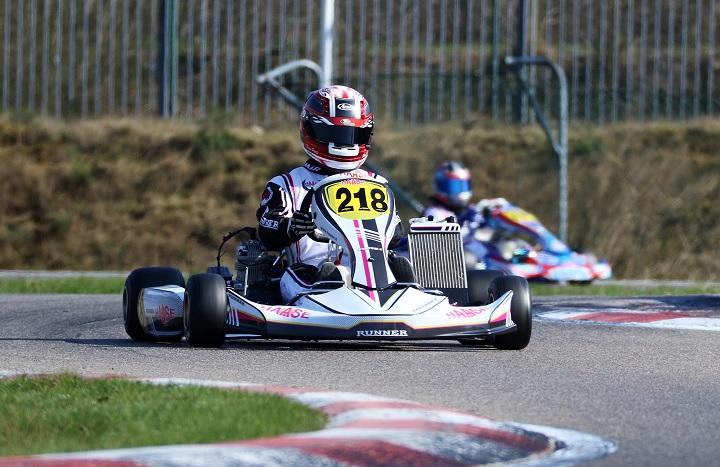 Bruno Ponte 'traído' pelo cabo do acelerador na Pré-final do Europeu de Karting