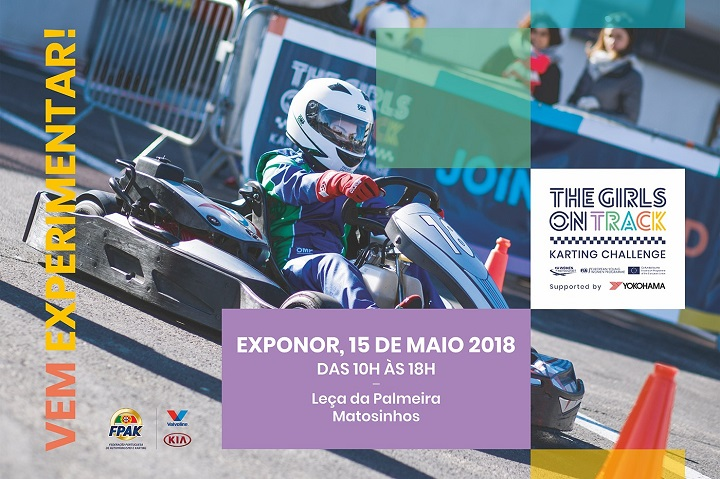 The Girls on Track Karting Challenge no dia 15 de maio na Exponor