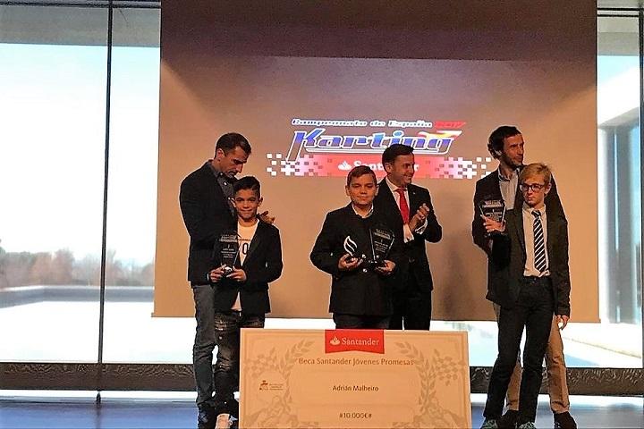 Adrian Malheiro premiado na 'corte real' como Campeão de Espanha da Alevín