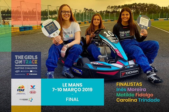 Finalistas do The Girls on Track em testes amanhã no Kartódromo do Leiria