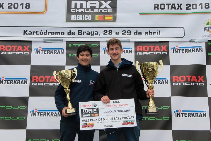 Gonçalo Coutinho campeão Ibérico Sénior Max… e Manuel Alves garante 2.º lugar