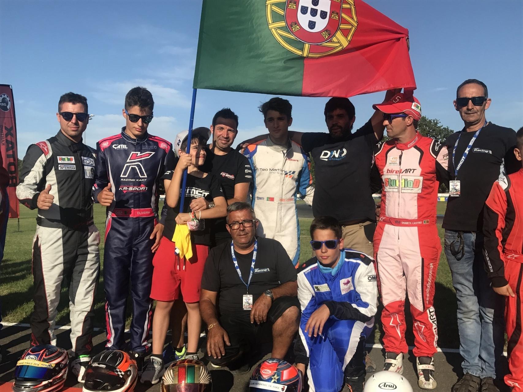 Guilherme de Oliveira é sensação em Le Mans no Internacional Rotax Sénior