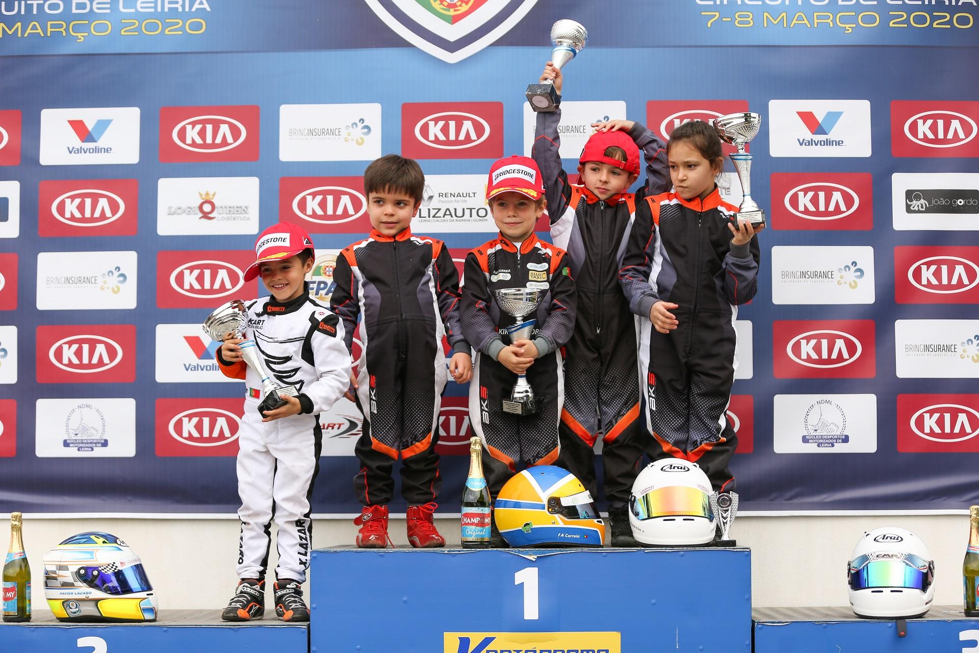 Francisco Correia triunfa na abertura do Campeonato de Portugal de Karting Iniciação