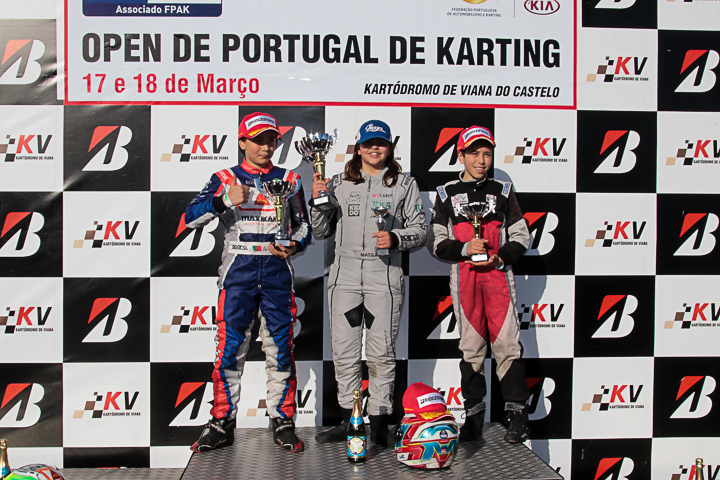 Matilde Ferreira vitoriosa no Open de Portugal de Karting da categoria Juvenil