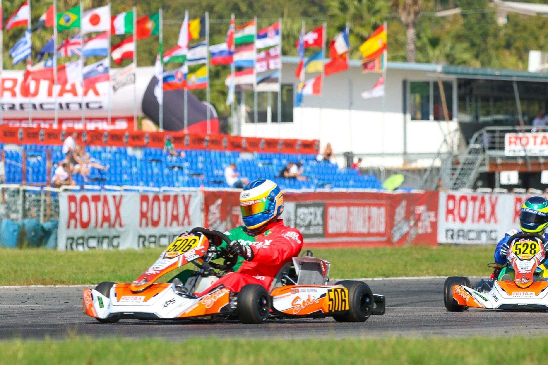 João Oliveira 16.º classificado na 1.ª manga do Mundial Rotax DD2 Master em Itália