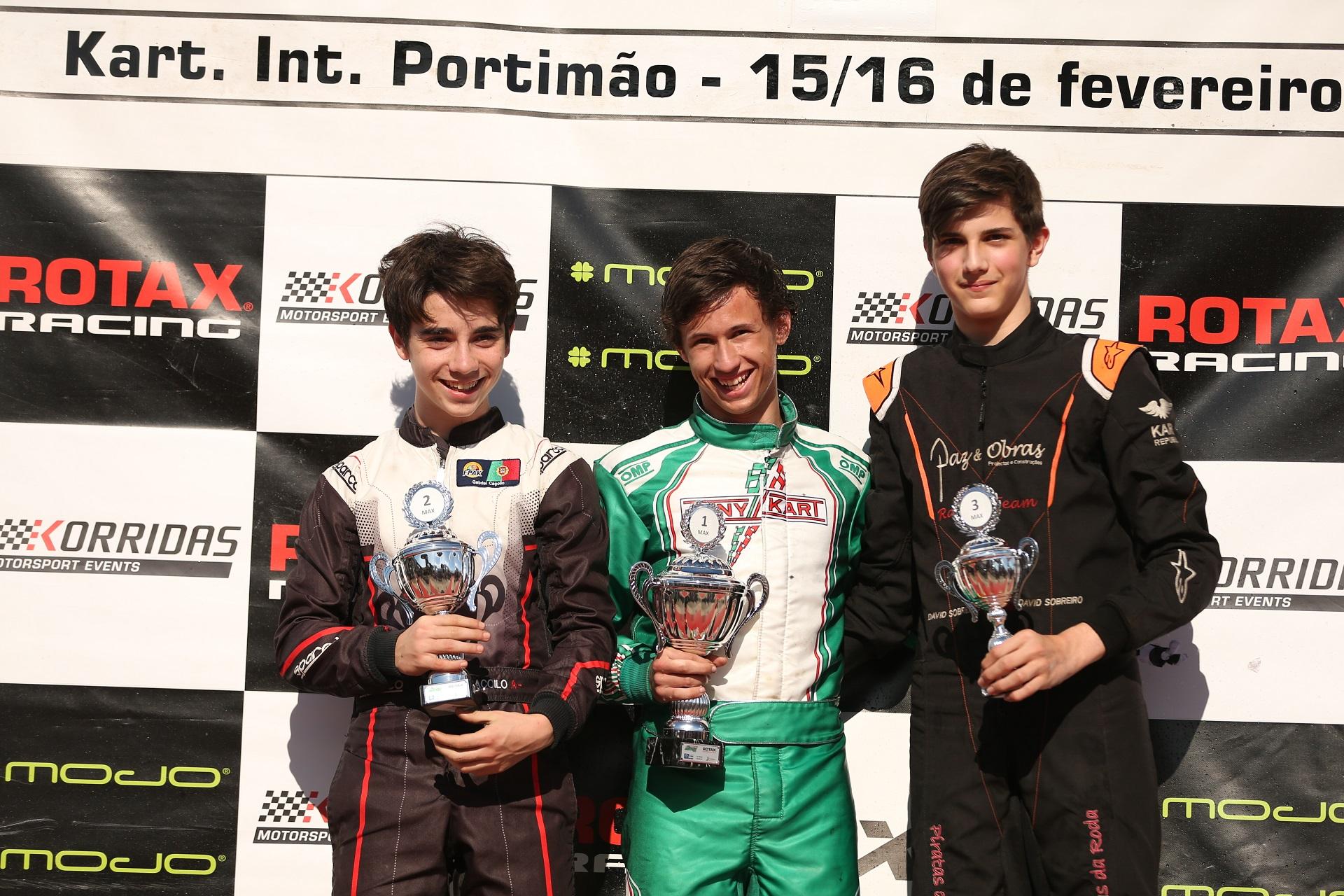 Martim Nunes somou mais uma vitória no Troféu Rotax Sénior Max em Portimão