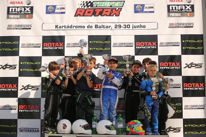 Afonso Ferreira domina primeiro dia do Troféu Rotax Micro-Academy em Baltar