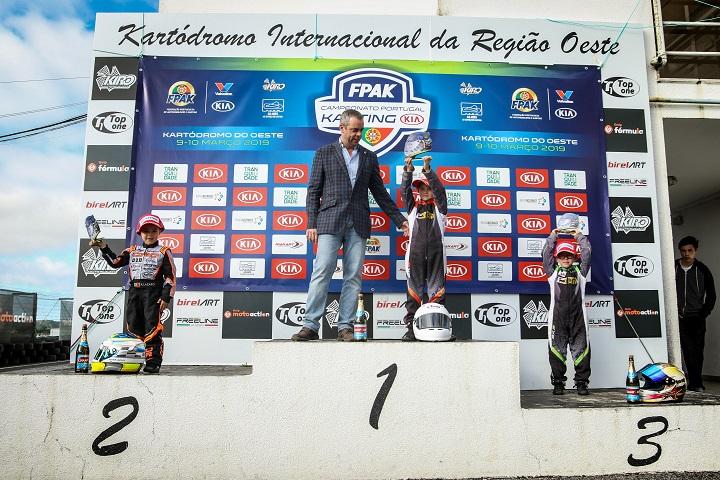 Romeu Mello vence 1.ª prova Campeonato de Portugal de Karting KIA na Iniciação
