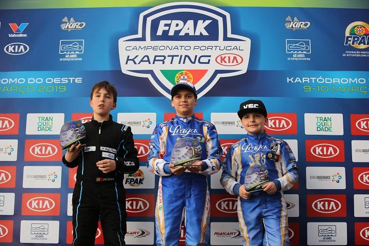 Adrián Malheiro entra a ganhar no Campeonato de Portugal de Karting KIA Juvenil