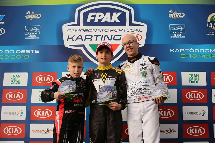 Luís Alves domina abertura do Campeonato de Portugal de Karting KIA Júnior