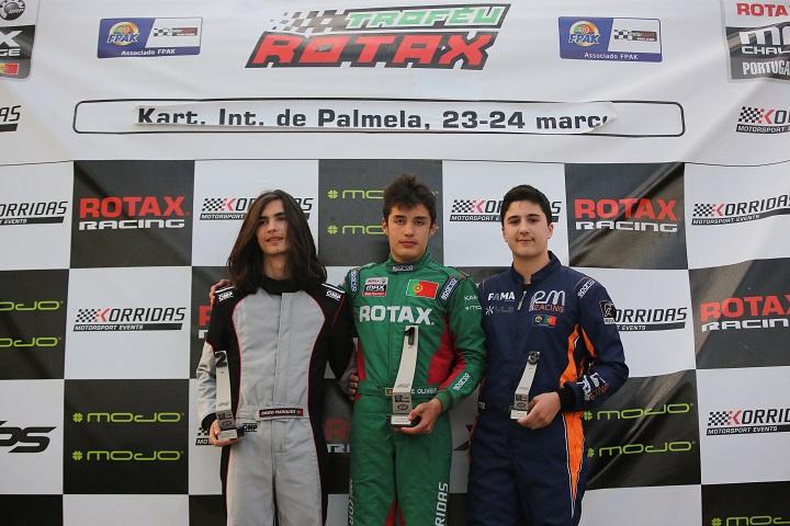 Arranque vitorioso de Guilherme de Oliveira no Troféu Rotax Sénior Max em Palmela