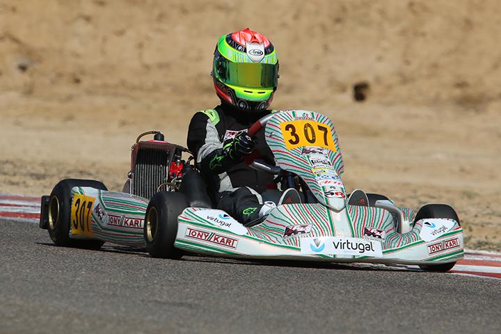 Pedro Pinto a um ponto (!) do pódio da categoria Max das Series Rotax em Zuera