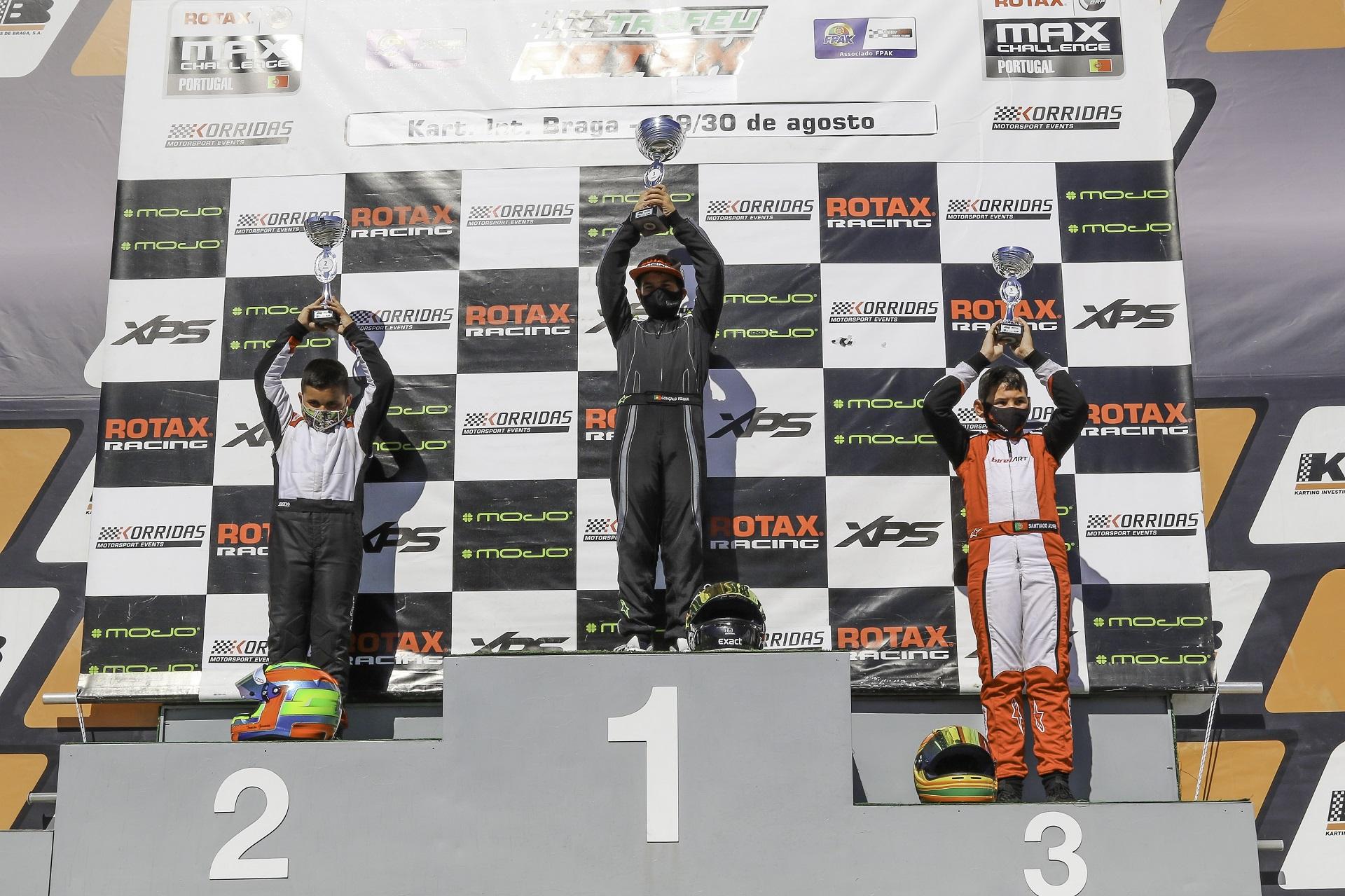 Gonçalo Pereira vence na Troféu Rotax Mini-Max… Rodrigo Vilaça mantém liderança