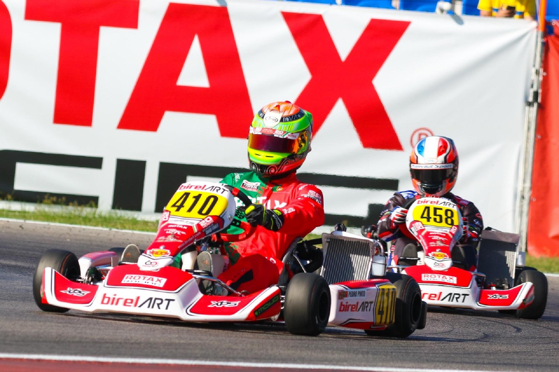 Pedro Pinto 8.º classificado na 1.ª manga do Mundial Rotax DD2 em Itália