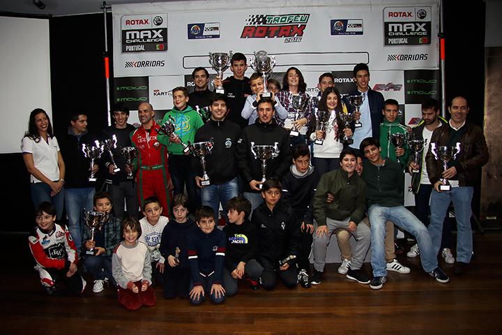 Os pódios do Rotax Max Challenge Portugal e do Troféu Norte de Portugal 2016