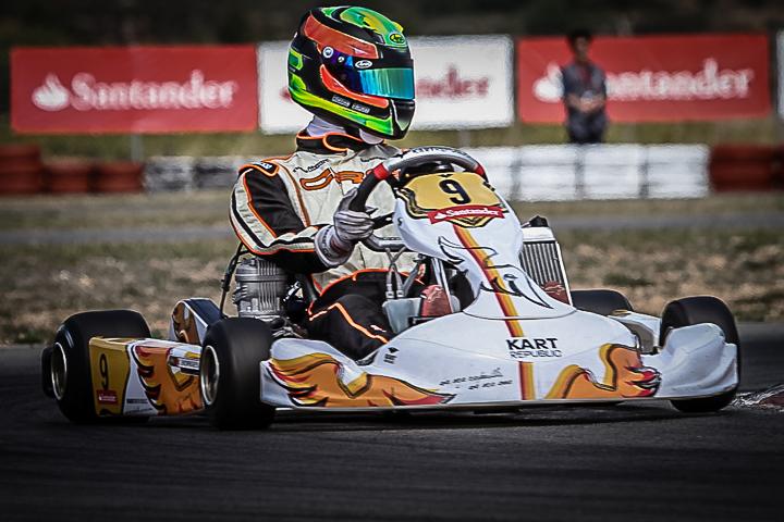 Ricardo Borges no pódio da primeira prova do Campeonato de Espanha Sénior