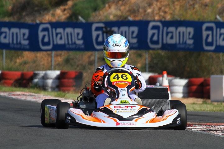 Vasco Lázaro perto de alcançar um lugar no pódio em Espanha na Sénior-KZ2 Silver