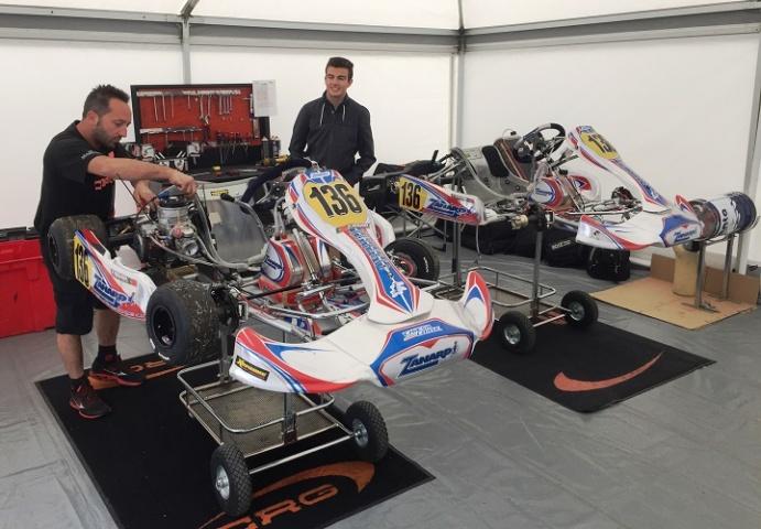 Yohan Sousa no circuito italiano de Adria para preparar a 2ª prova do Europeu KZ2