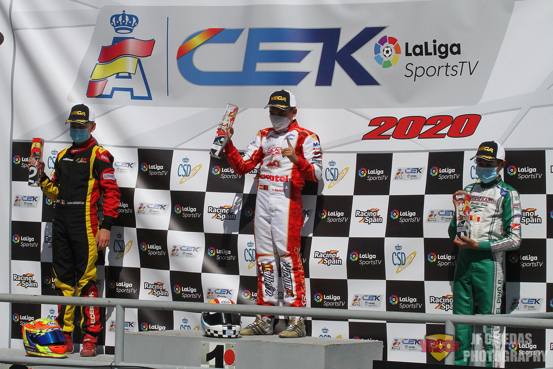 Luso-espanhol Adrían Malheiro entra a vencer no CEK da categoria Júnior