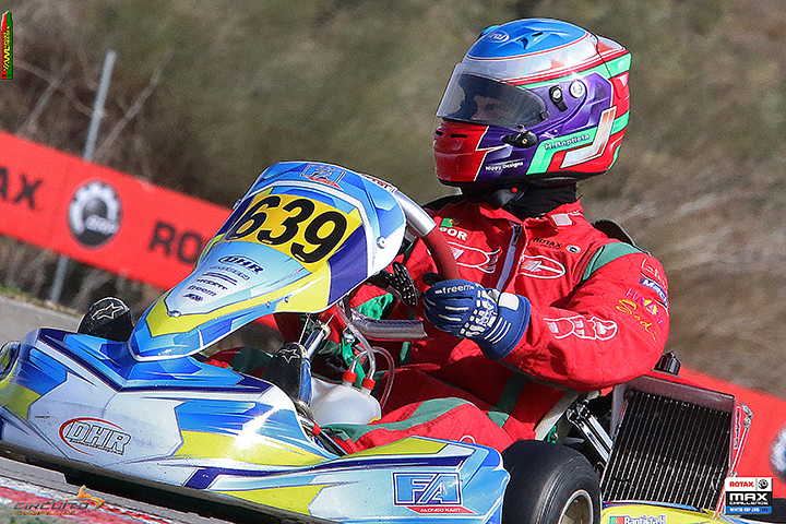 Henrique Baptista quinto após as mangas do Euro Rotax Max Challenge 2015