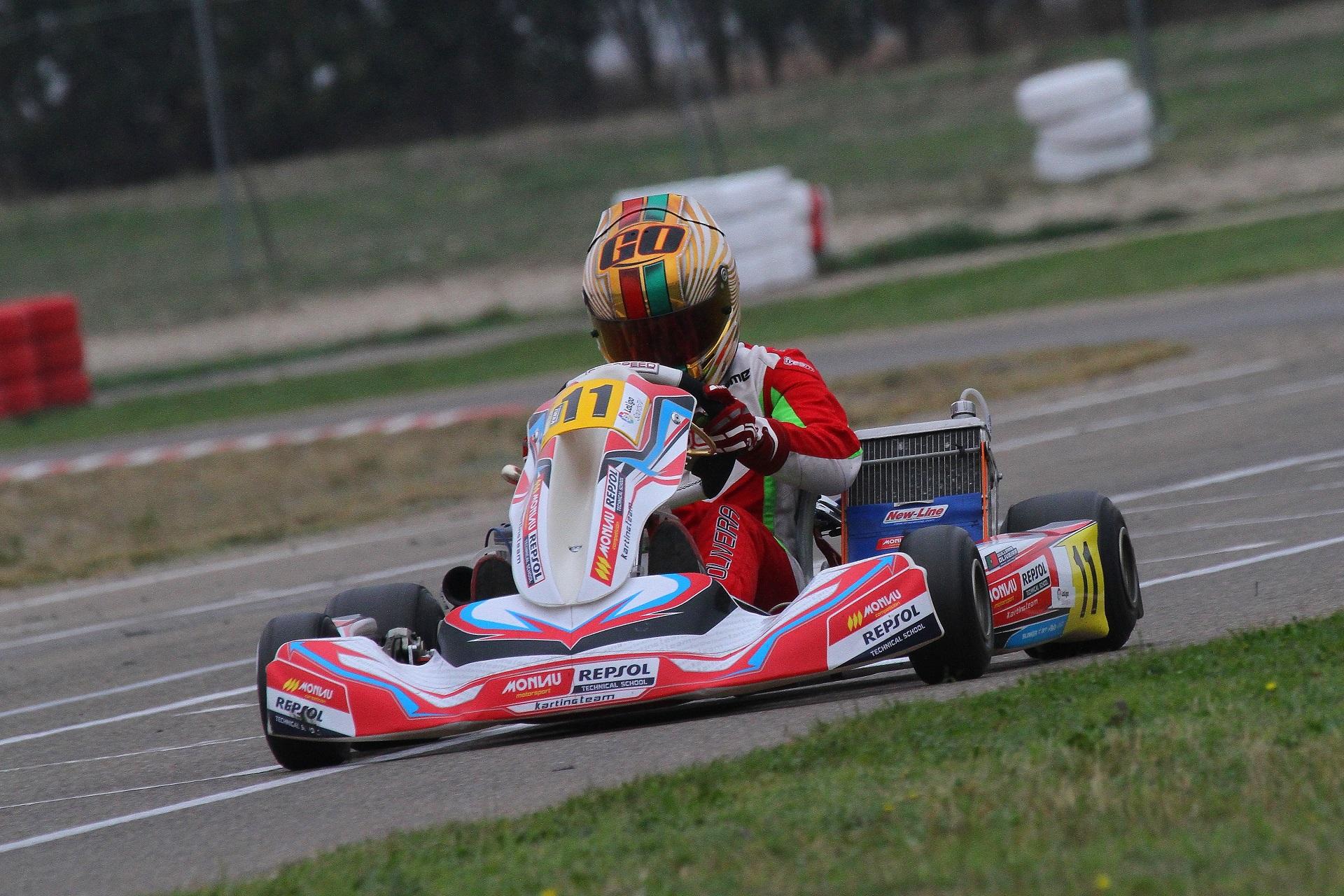 Guilherme de Oliveira somou novo pódio na categoria KZ2 do Campeonato de Espanha