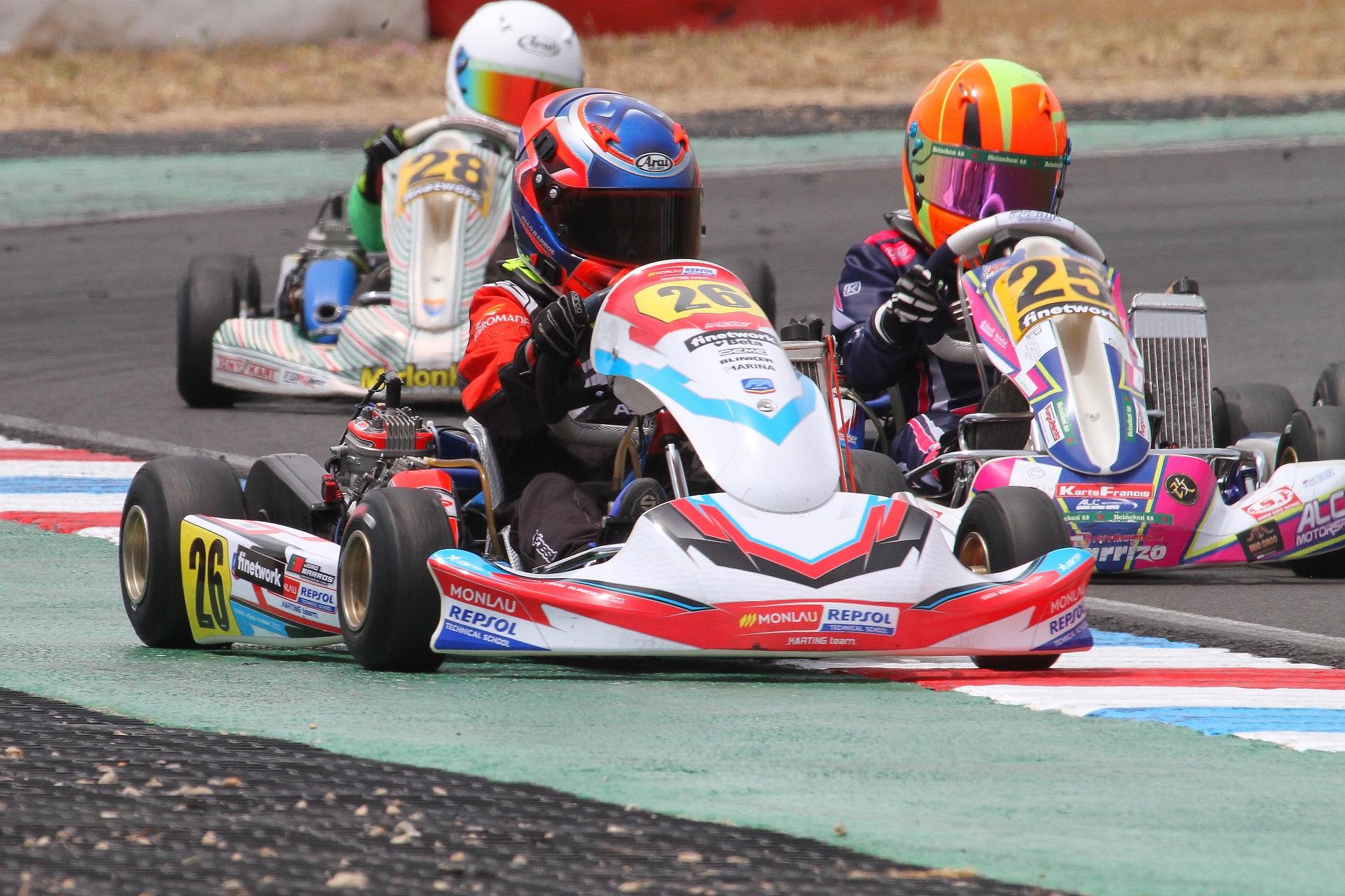 João Barros e Romeu Mello estrearam-se na Campeonato de Espanha Mini-Rookie