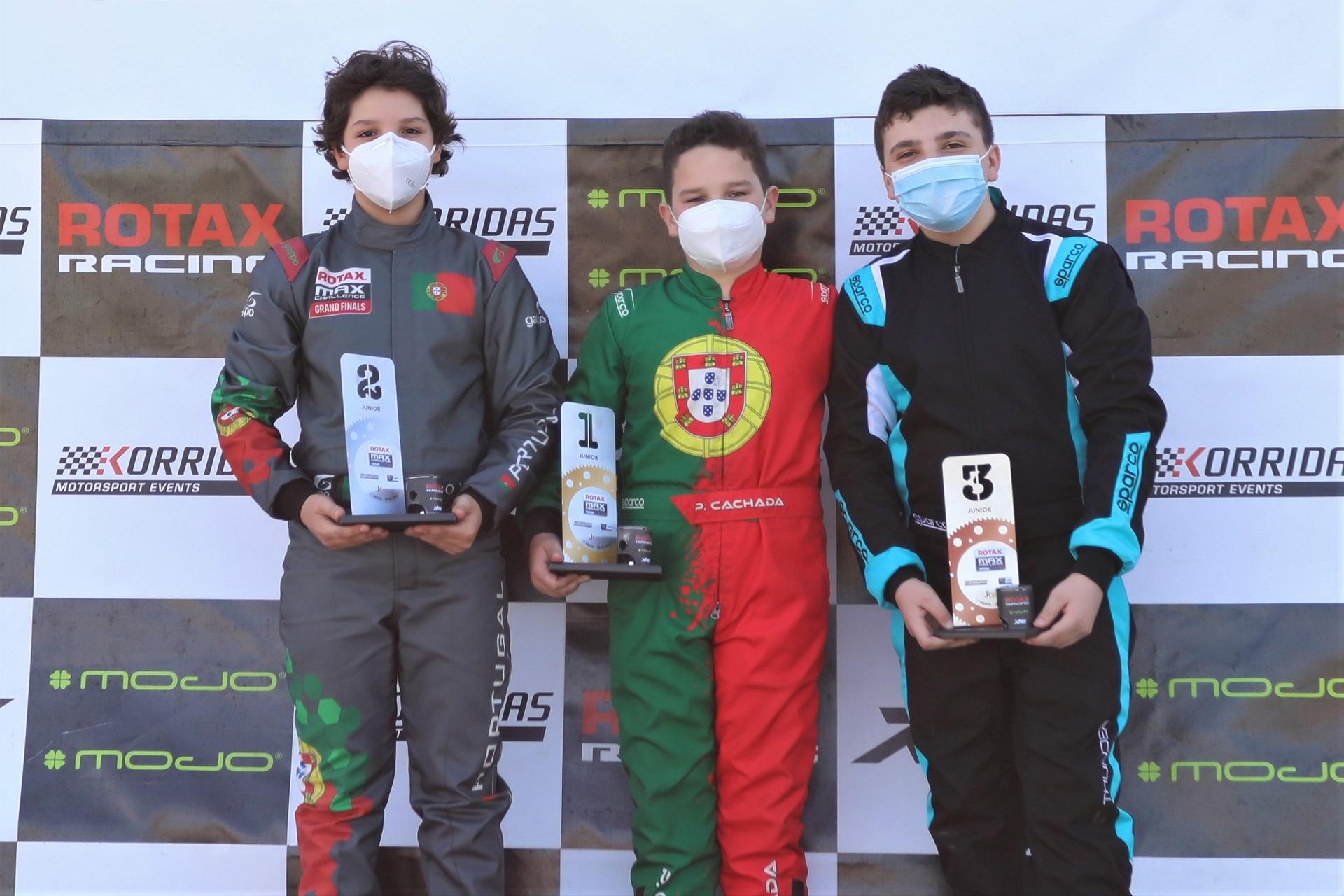 Pedro Cachada estreia-se a vencer na Júnior no início do Troféu Rotax em Portimão
