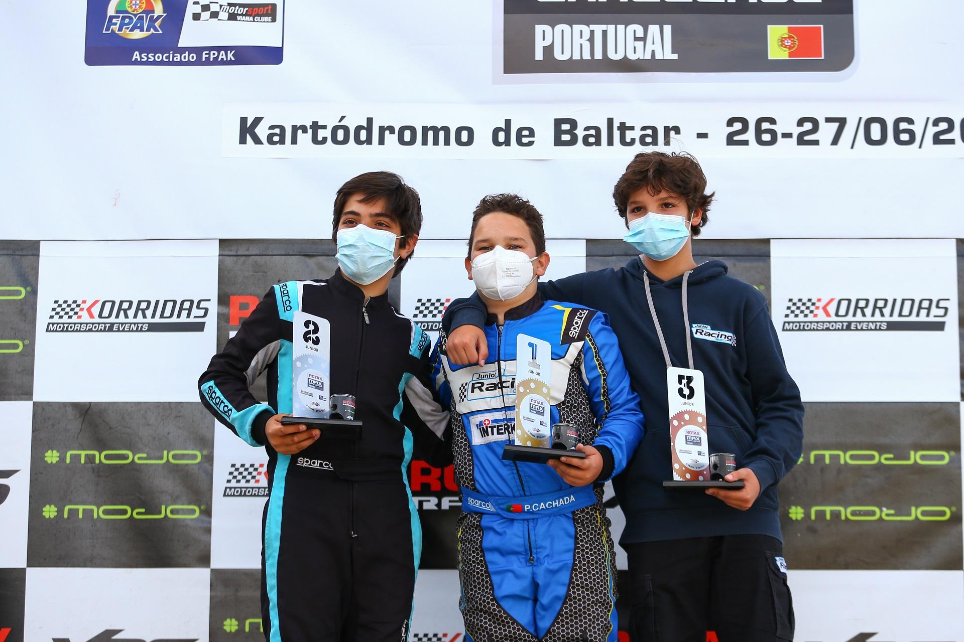 Pedro Cachada reforça liderança na categoria Júnior do Troféu Rotax em Baltar