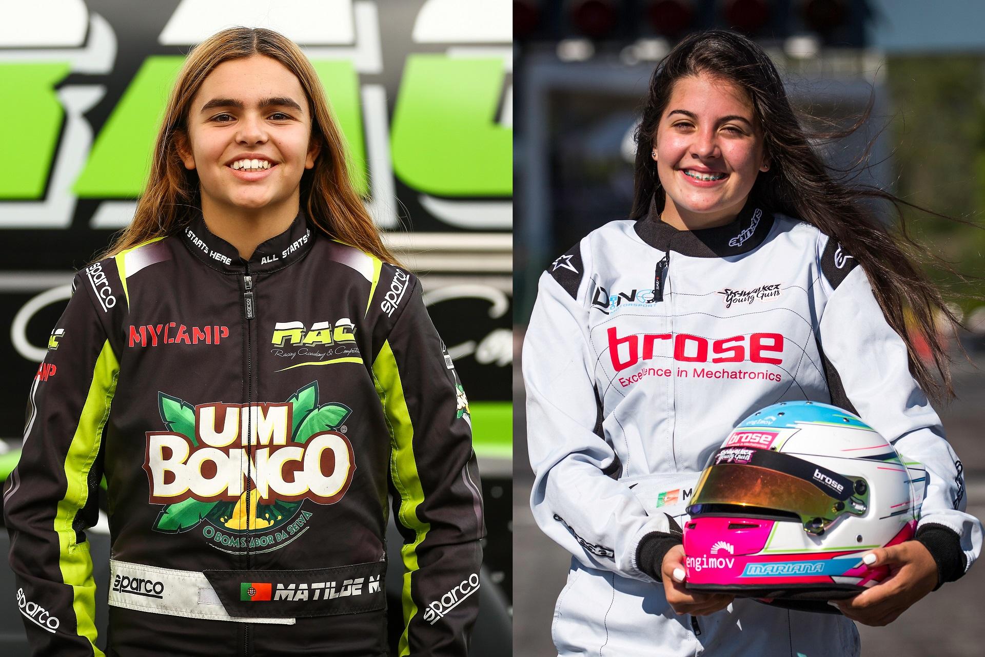 Mariana Machado e Matilde Ferreira no 'The Girls On Track - The Rising Star' da FIA